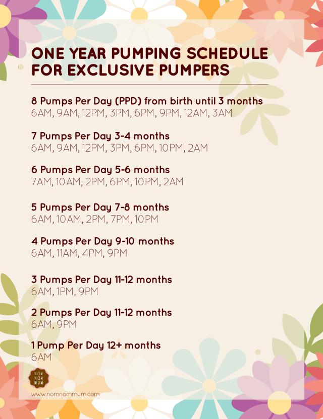 Pumping schedule-01